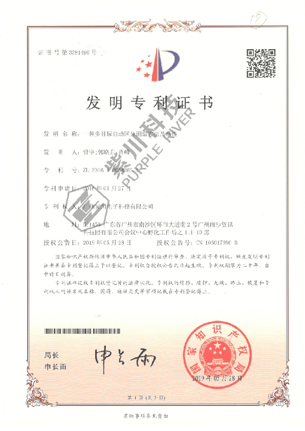 Patent for Invention 3