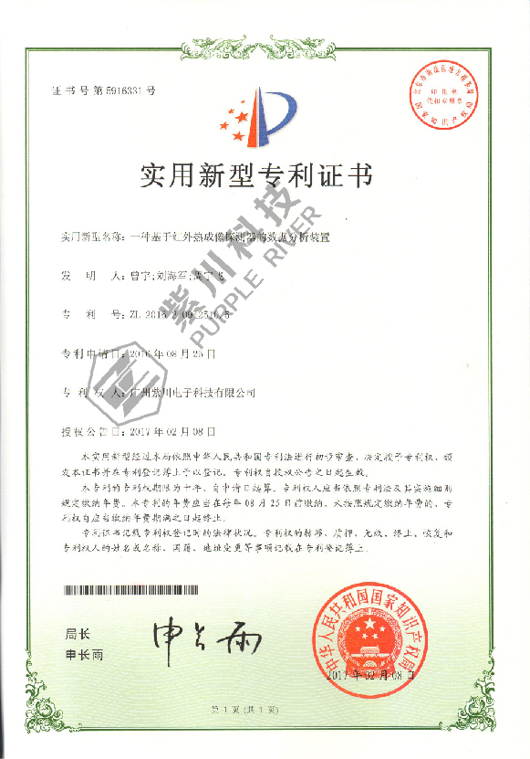 Patent for Utility Model 2