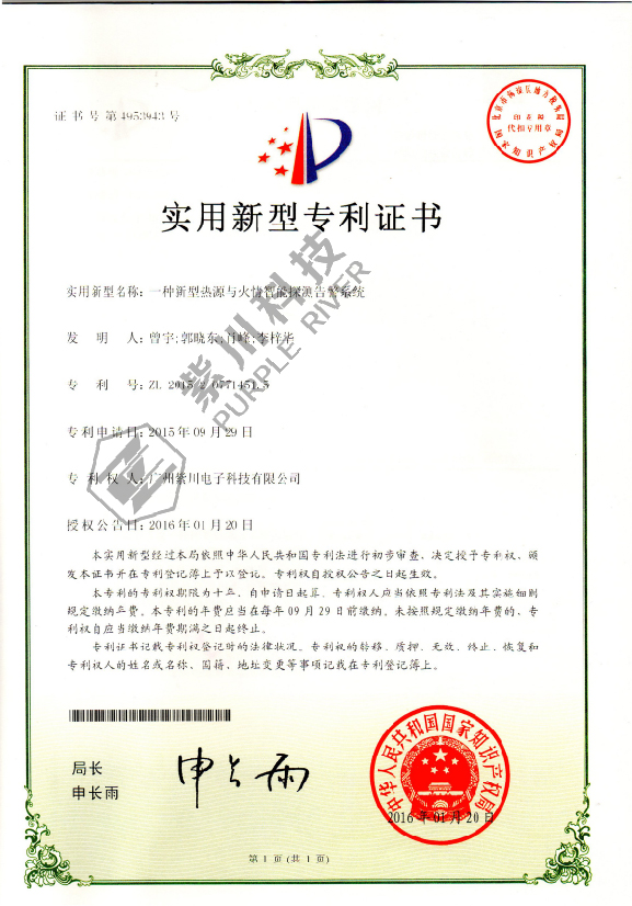 Patent for Utility Model 4