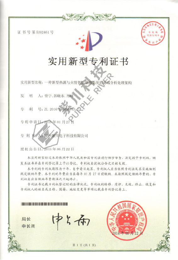 Patent for Utility Model 5